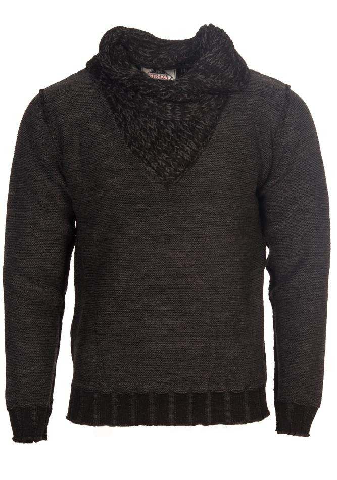 Ανδρική Πλεκτή Μπλούζα Traxx Black αρχική ανδρικά ρούχα πλεκτά