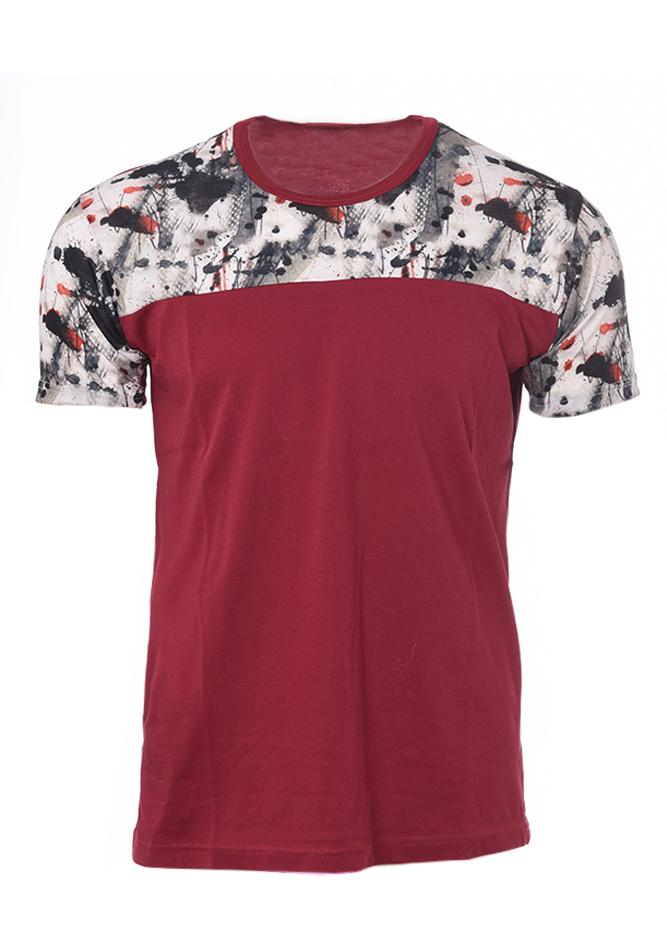 Ανδρικό T-shirt Blot Bordeaux αρχική ανδρικά ρούχα t shirts