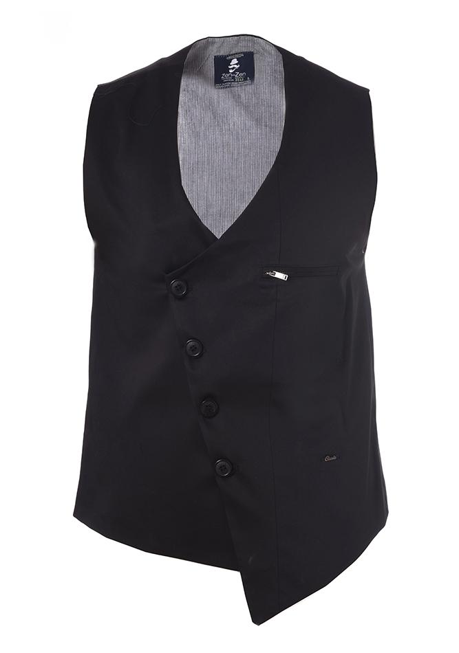Ανδρικό Γιλέκο Zen Black αρχική ανδρικά ρούχα επιλογή ανά προϊόν σακάκια   γιλέκα
