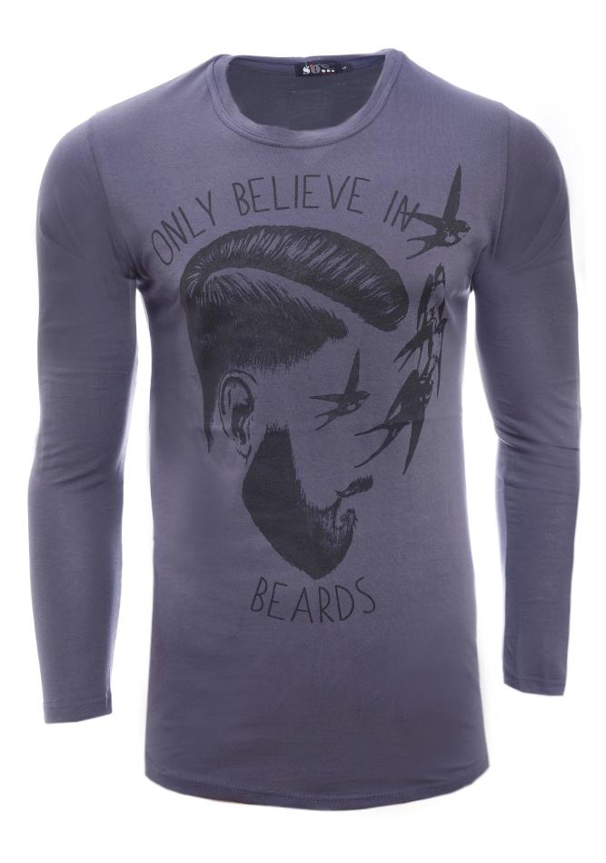 Ανδρική Μπλούζα Beards Grey αρχική ανδρικά ρούχα επιλογή ανά προϊόν μπλούζες