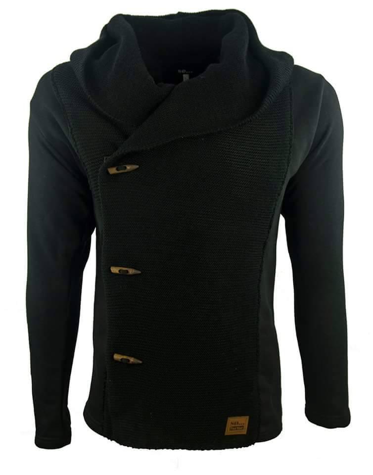 Ζακέτα Spirit So Fashion-Μαύρο αρχική ανδρικά ρούχα