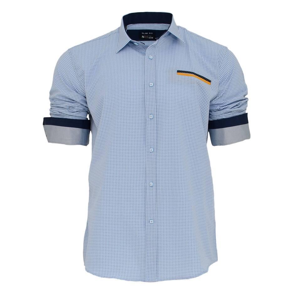 Ανδρικό Πουκάμισο So Fashion Ciel-Σιέλ αρχική ανδρικά ρούχα πουκάμισα