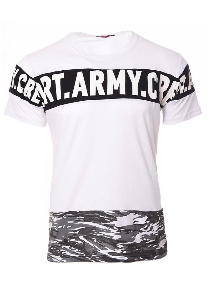 Ανδρικό T-shirt Army Crew White αρχική ανδρικά ρούχα t shirts