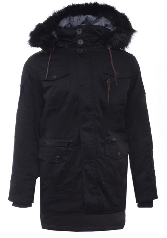 Ανδρικό Μπουφάν Parka Pray Black αρχική ανδρικά ρούχα επιλογή ανά προϊόν μπουφάν