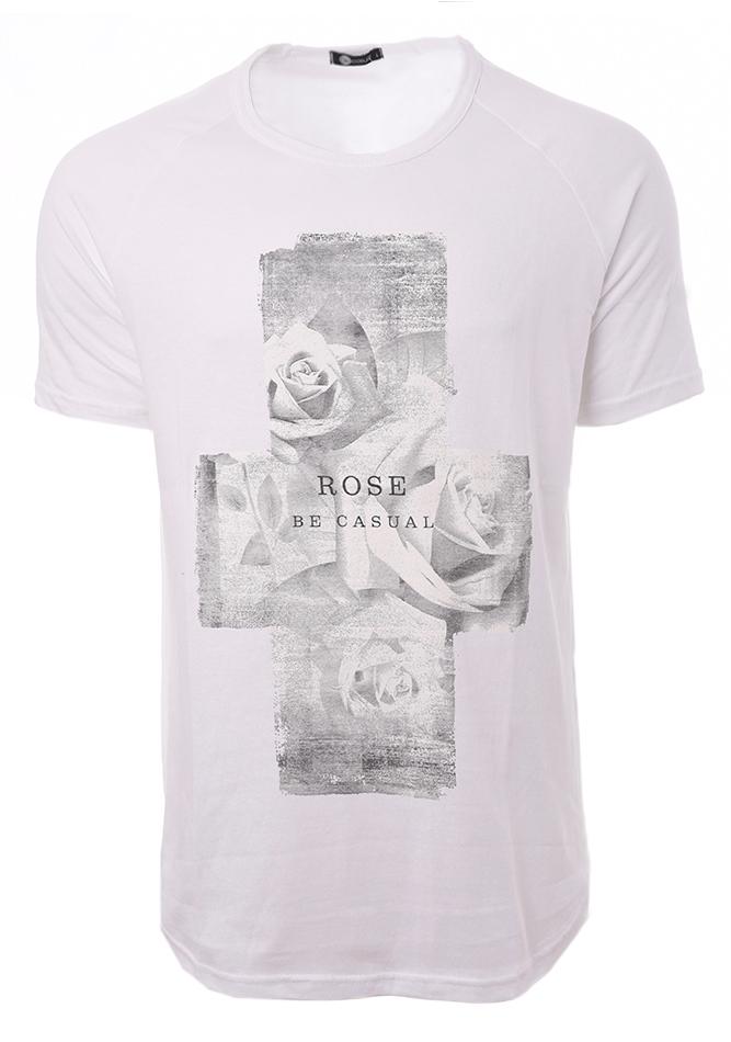 Ανδρικό T-shirt Cross White αρχική ανδρικά ρούχα t shirts