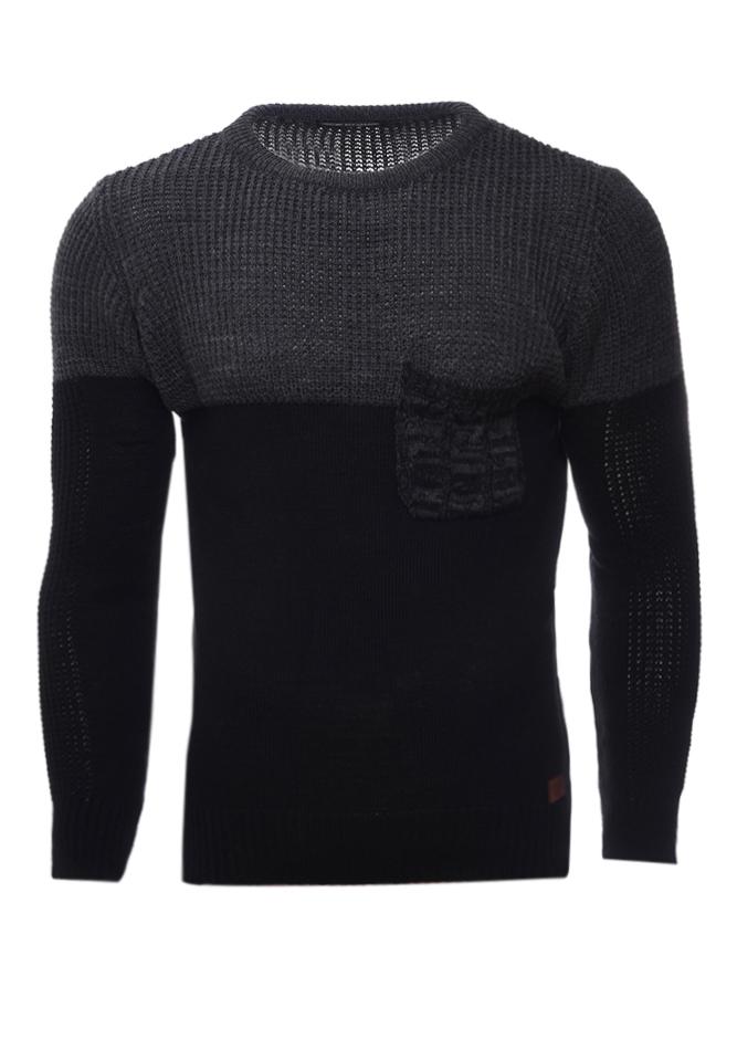 Ανδρική Πλεκτή Μπλούζα Check D.Grey αρχική ανδρικά ρούχα
