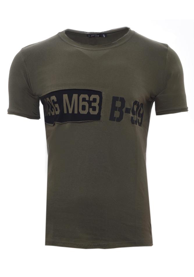 Ανδρικό T-shirt Plus Olive Green αρχική ανδρικά ρούχα