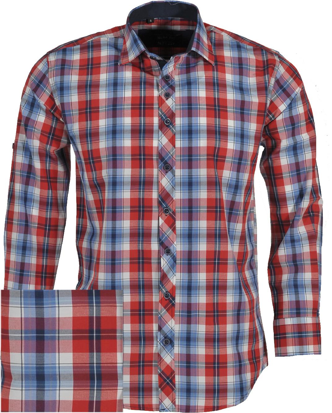 Ανδρικό Πουκάμισο So Fashion Red Καρώ-Κόκκινο αρχική ανδρικά ρούχα πουκάμισα