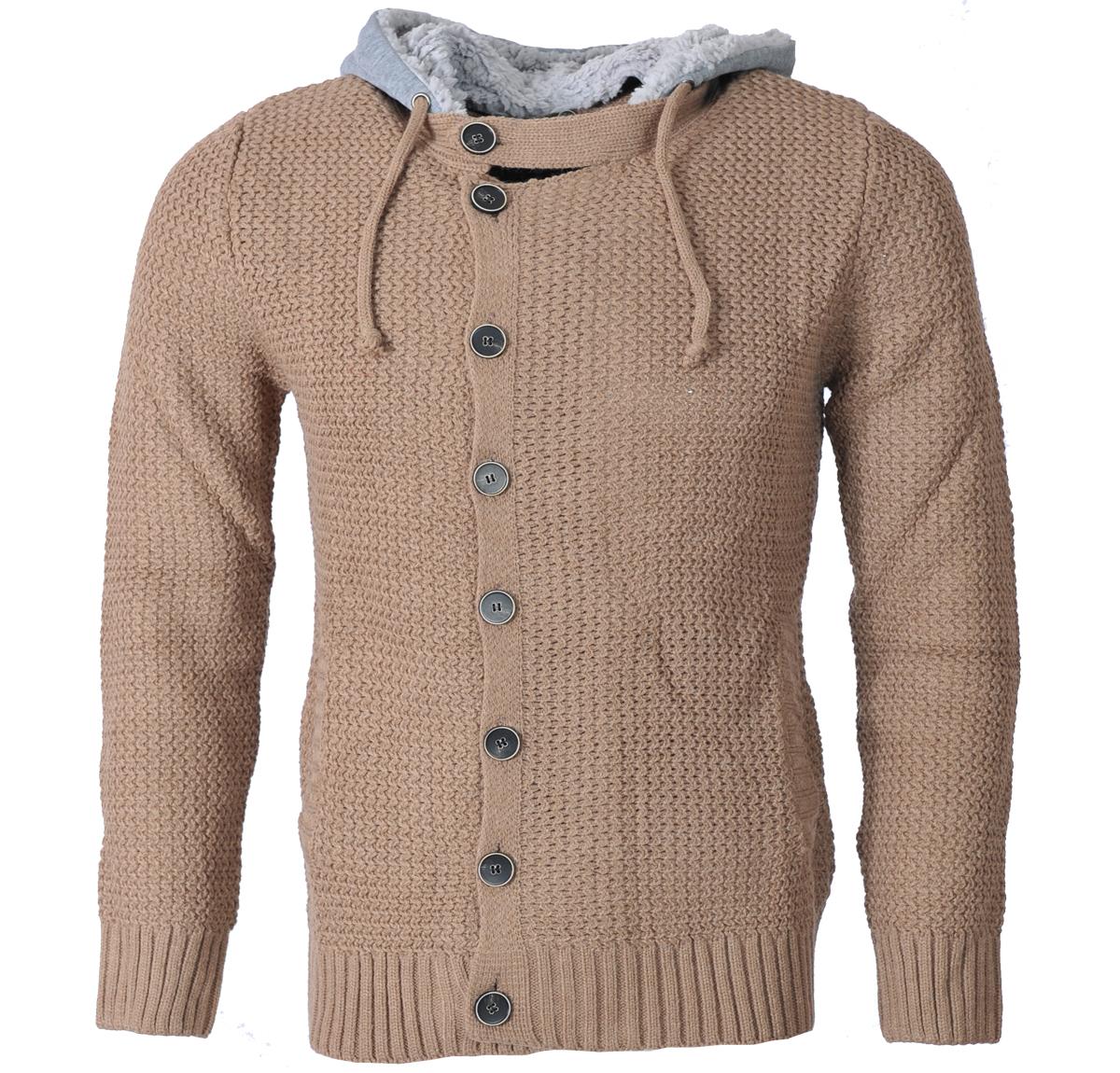 Ανδρική Πλεκτή Ζακέτα Pretty-Μπεζ αρχική ανδρικά ρούχα ζακέτες