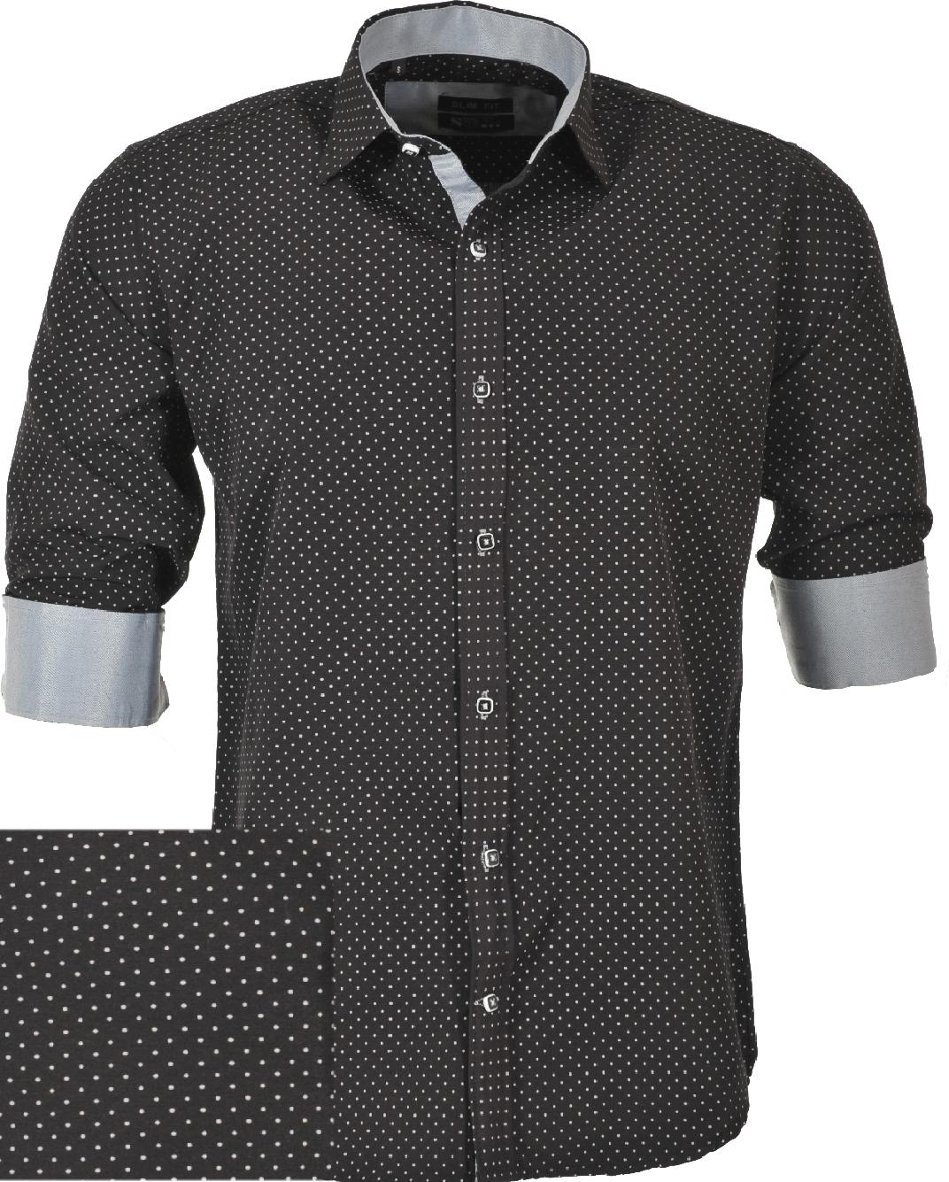 Ανδρικό Πουκάμισο So Fashion Black Poua-Μαύρο αρχική ανδρικά ρούχα επιλογή ανά προϊόν πουκάμισα