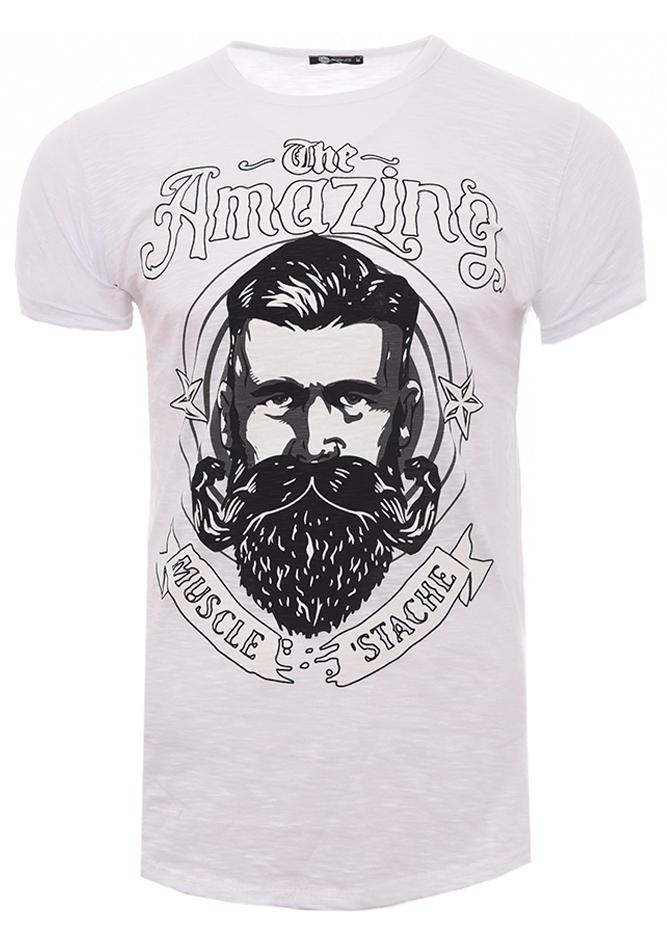39503cccaa2d Ανδρικό T-shirt Amazing White