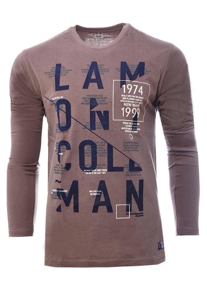 Ανδρική Μπλούζα Platinum Brown αρχική ανδρικά ρούχα επιλογή ανά προϊόν μπλούζες