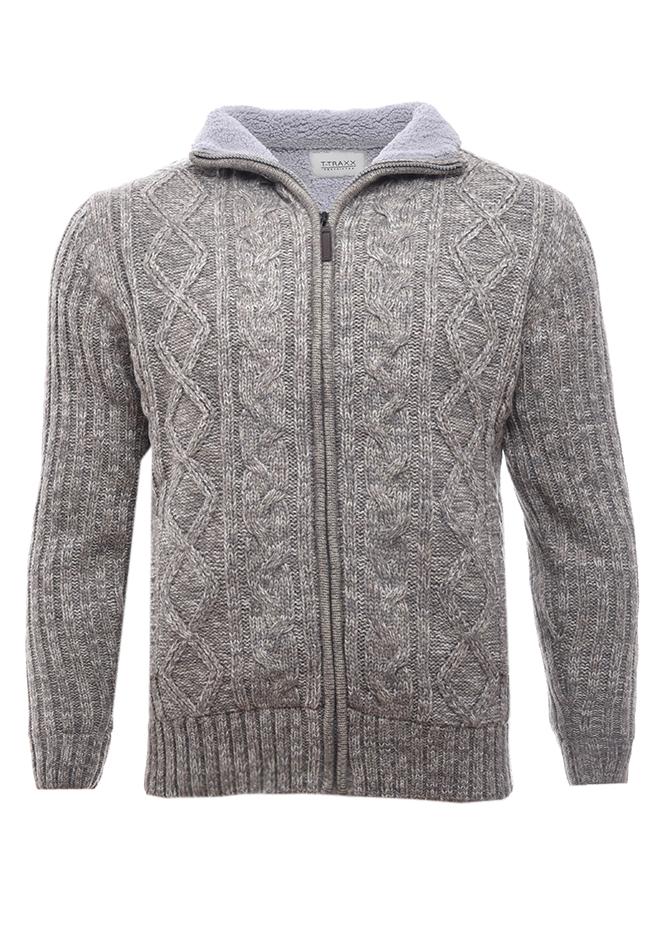 Ανδρική Πλεκτή Ζακέτα Tool Grey αρχική ανδρικά ρούχα επιλογή ανά προϊόν ζακέτες