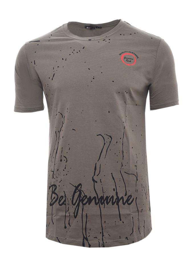 Ανδρικό T-shirt Gennine Olive Green αρχική ανδρικά ρούχα