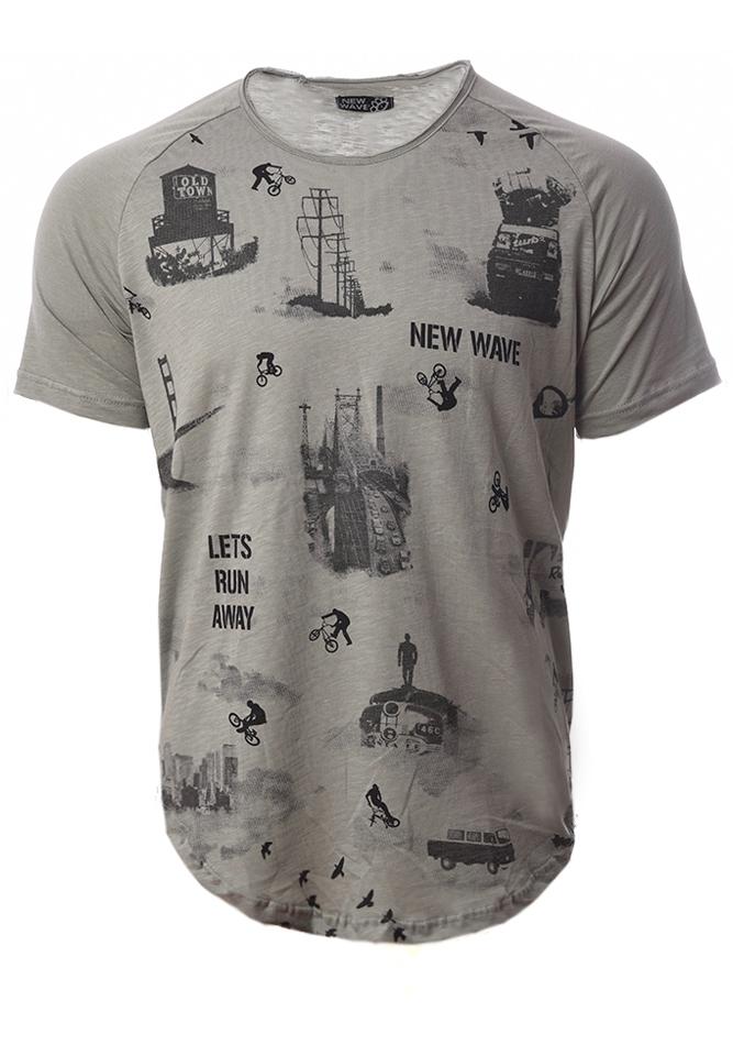 Ανδρικό T-shirt Wave Bike αρχική ανδρικά ρούχα t shirts
