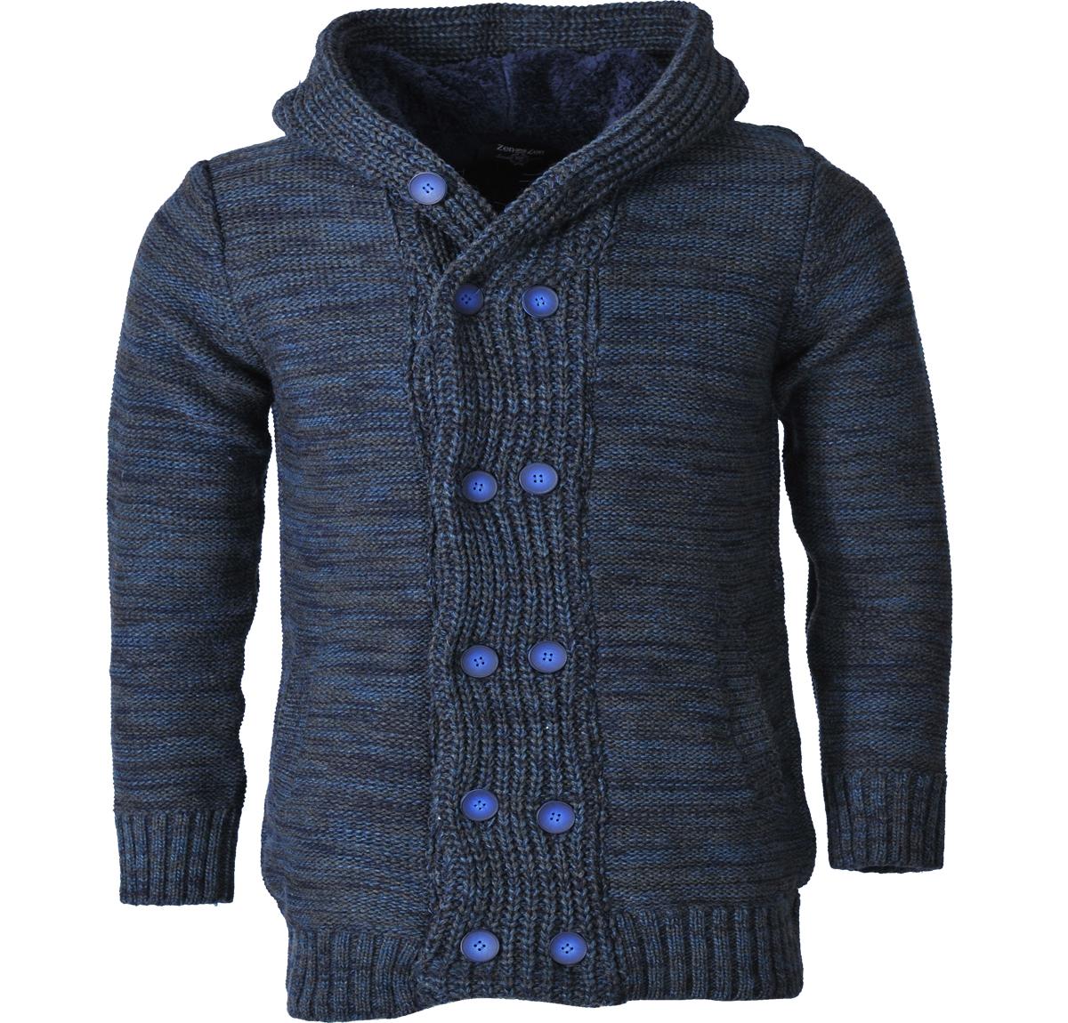 Ανδρική Μακρία Πλεκτή Ζακέτα -Μπλε Σκούρο αρχική ανδρικά ρούχα ζακέτες