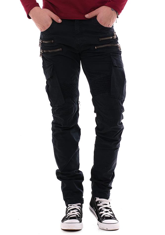Ανδρικό Jean Παντελόνι YES Design Black αρχική ανδρικά ρούχα παντελόνια παντελόνια jeans