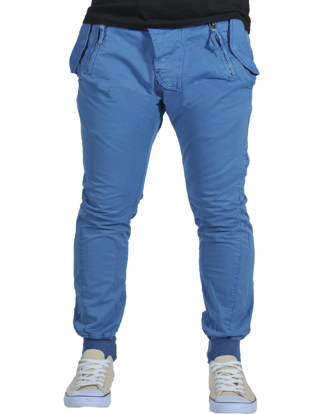 Ανδρικό Chino Παντελόνι Blue Rosso-Μπλε αρχική ανδρικά ρούχα παντελόνια chinos