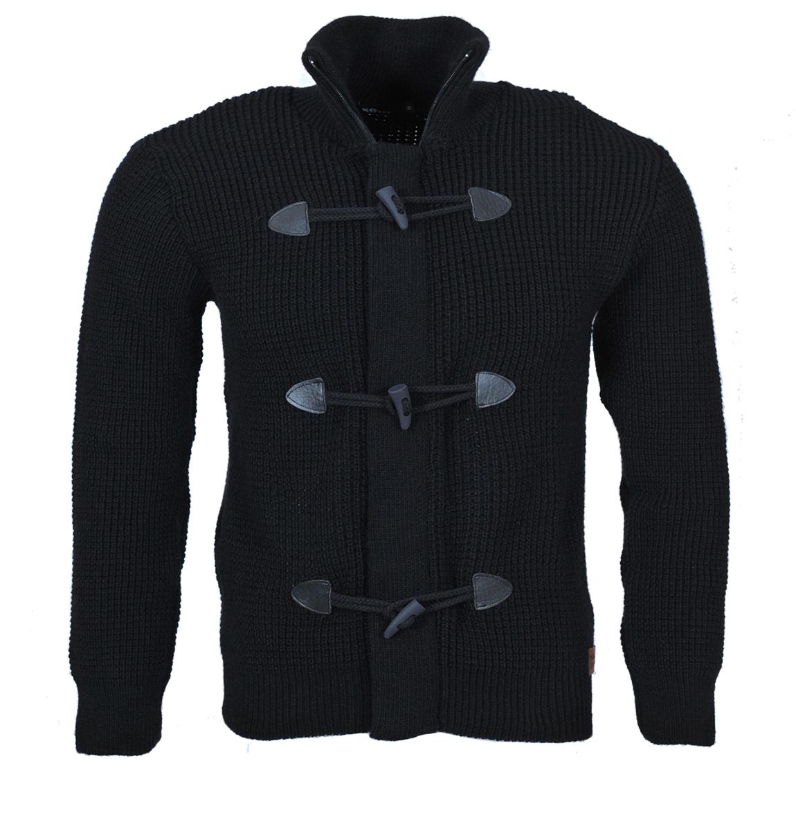 Ανδρική Ζακέτα Πλεκτή So Fashion-Γκρι Σκούρο αρχική ανδρικά ρούχα ζακέτες