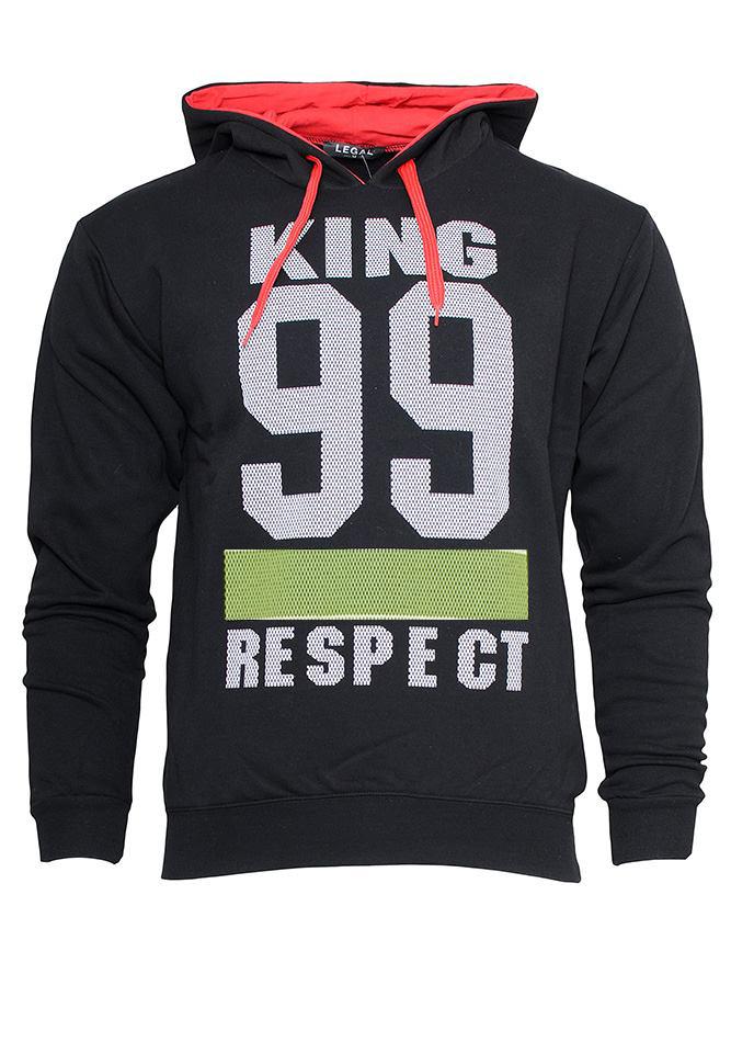 Ανδρικό Φούτερ Respect Black αρχική ανδρικά ρούχα φούτερ
