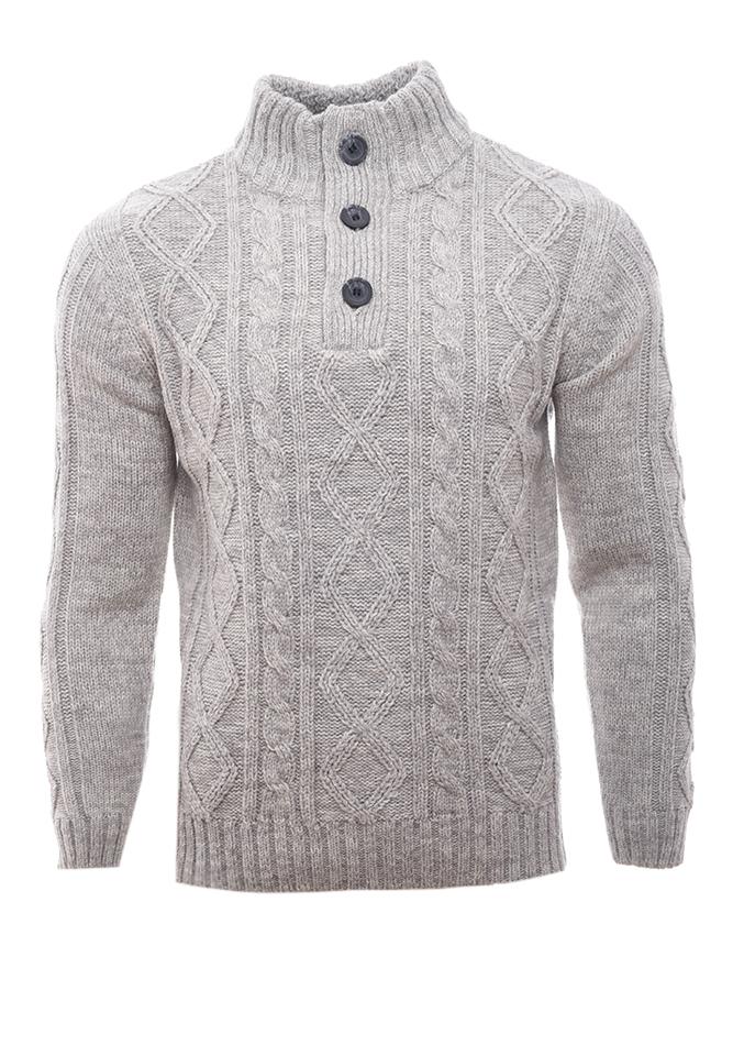 Ανδρική Πλεκτή Μπλούζα Crazy Grey αρχική ανδρικά ρούχα επιλογή ανά προϊόν πλεκτά