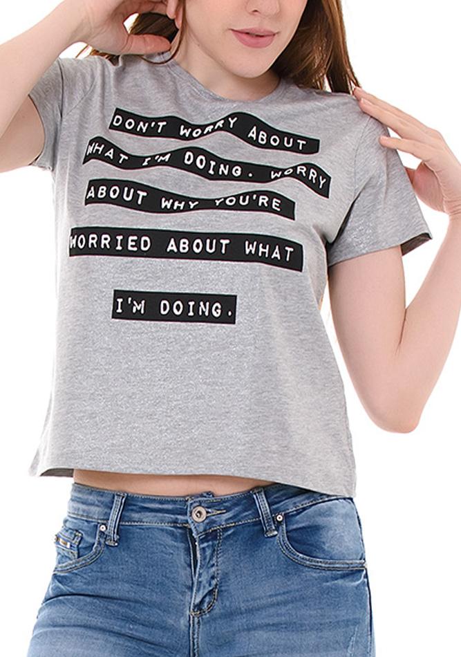 Μπλούζα Don't Worry αρχική γυναικεία ρούχα μπλούζες   tops