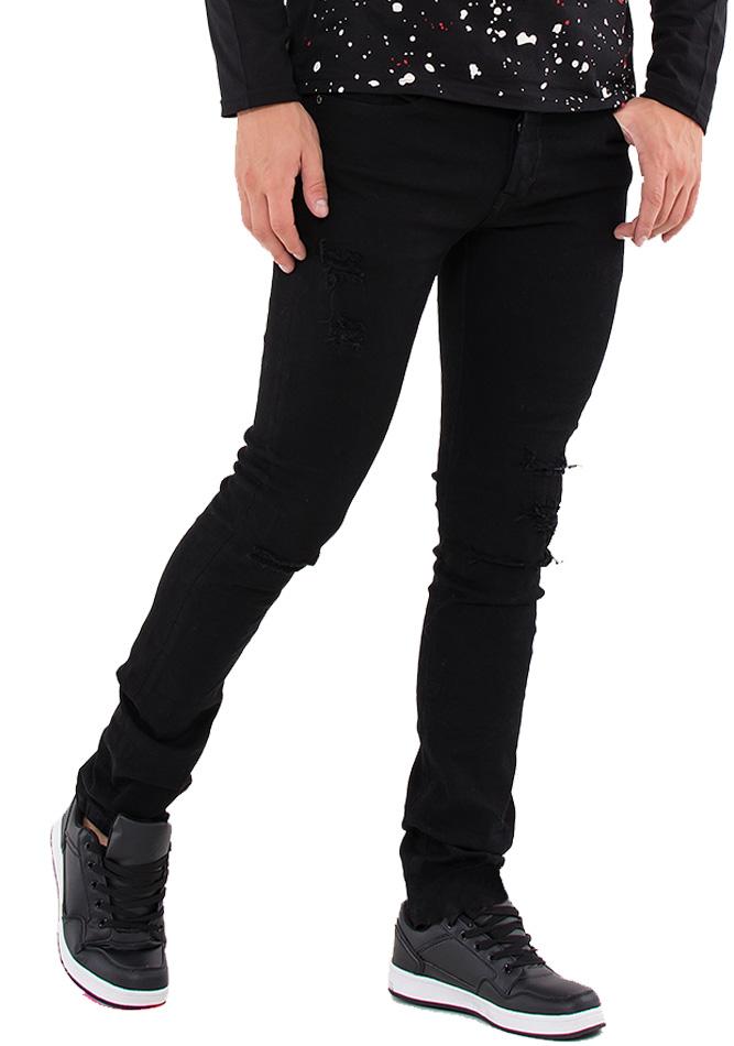 Ανδρικό Jean Trust Black αρχική ανδρικά ρούχα παντελόνια παντελόνια jeans