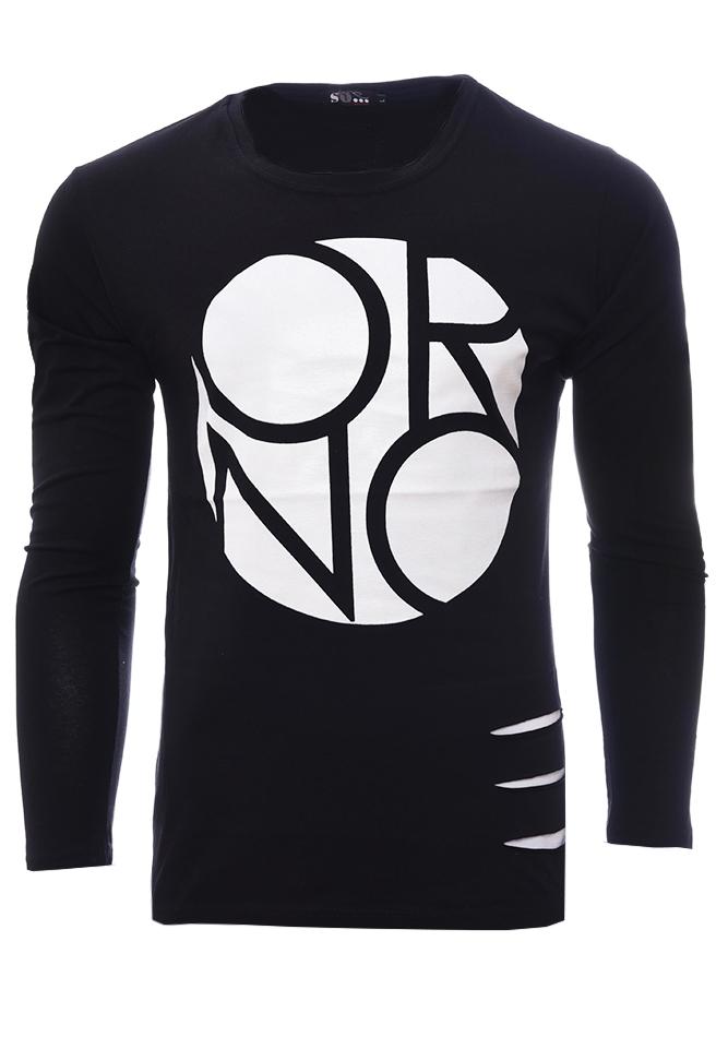 Ανδρική Μπλούζα Cut Black αρχική ανδρικά ρούχα επιλογή ανά προϊόν μπλούζες