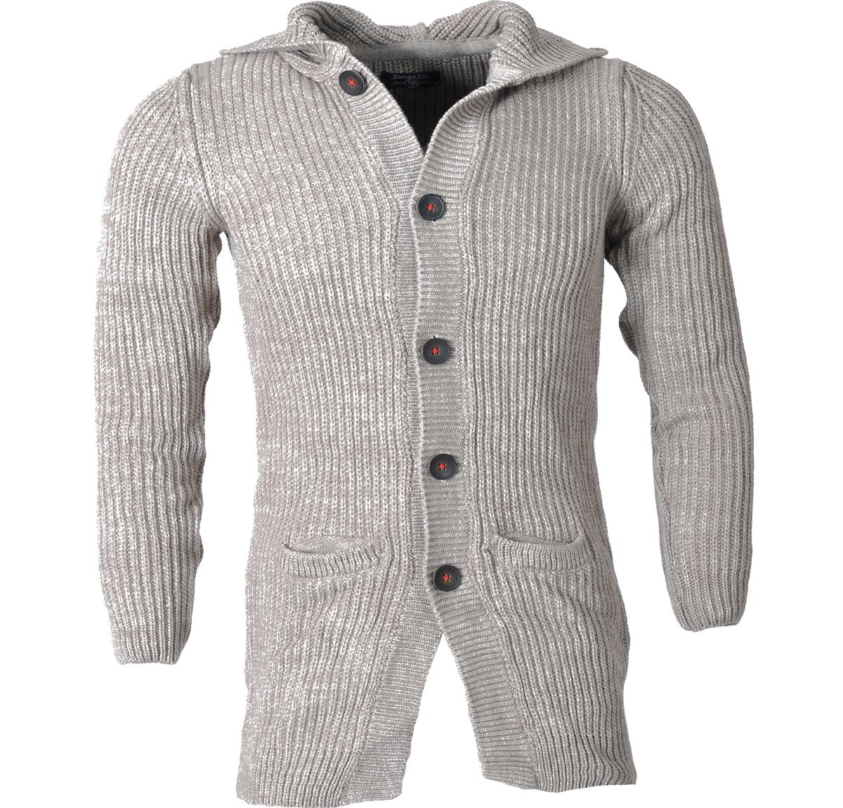 Ανδρική Πλεκτή Μακριά Ζακέτα -Μπεζ αρχική ανδρικά ρούχα ζακέτες
