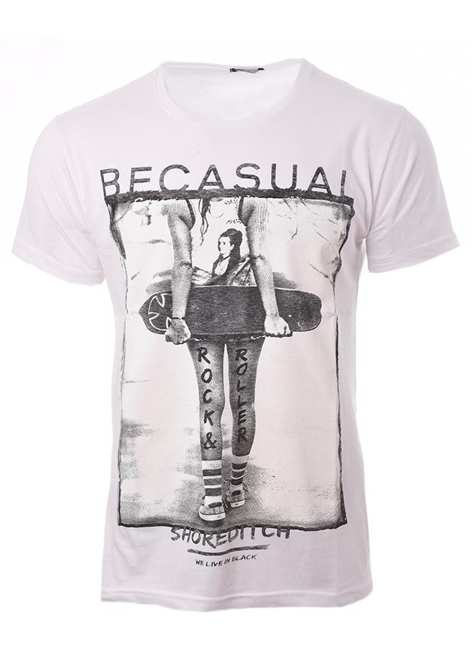 Ανδρικό T-shirt Roller White αρχική ανδρικά ρούχα t shirts