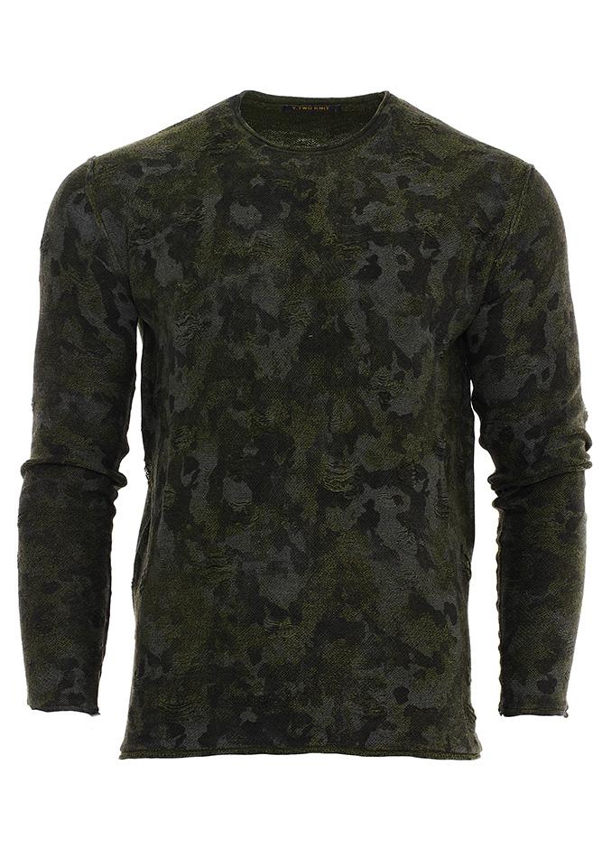 Ανδρική Μπλούζα Y-Two Army αρχική ανδρικά ρούχα μπλούζες