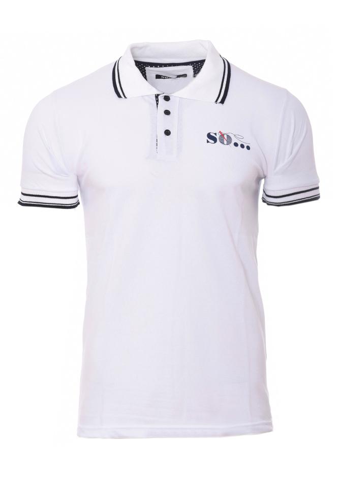 Ανδρικό Polo So White αρχική ανδρικά ρούχα polo