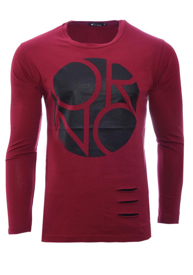 Ανδρική Μπλούζα Cut Bordeaux αρχική ανδρικά ρούχα επιλογή ανά προϊόν μπλούζες