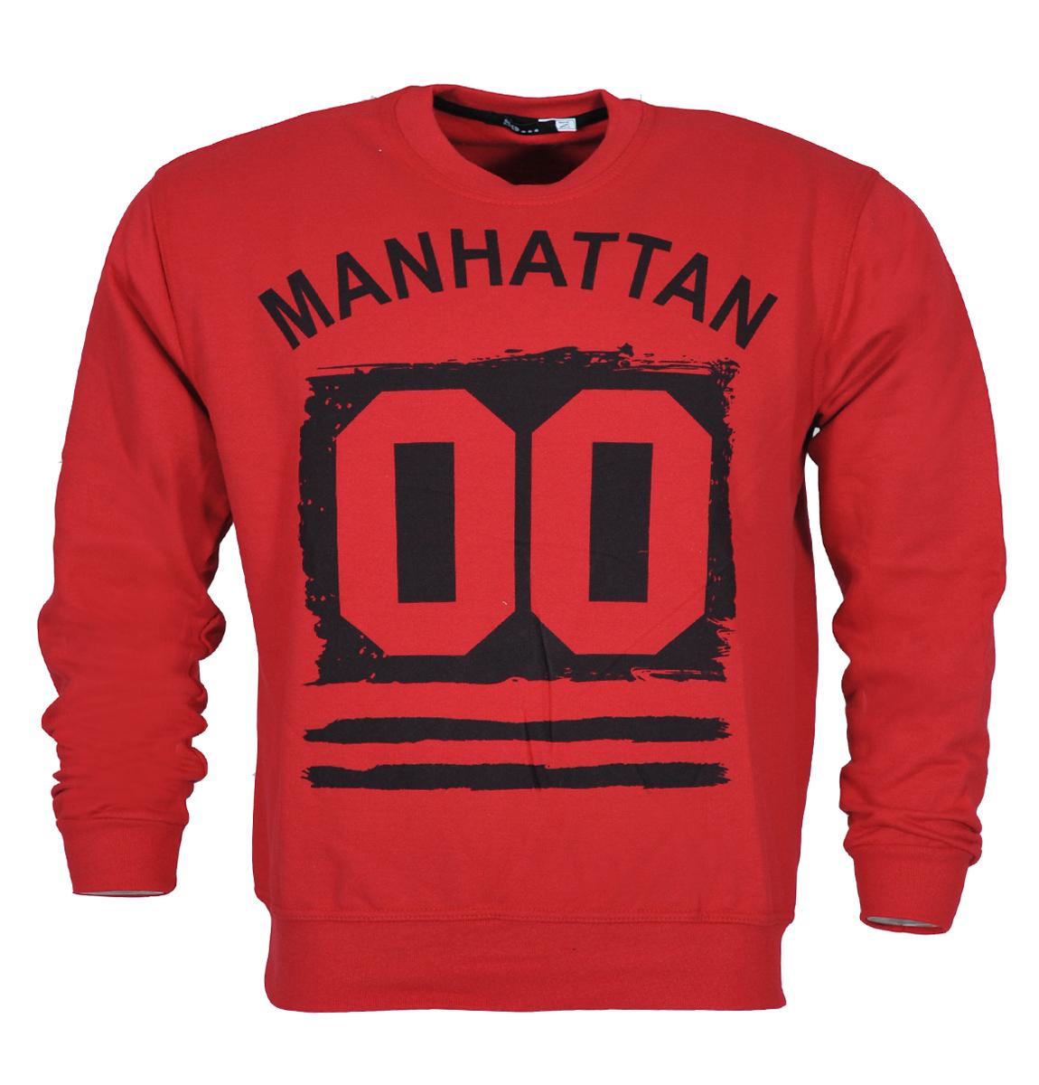 Ανδρικό Φούτερ Manhattan-Κόκκινο αρχική ανδρικά ρούχα φούτερ