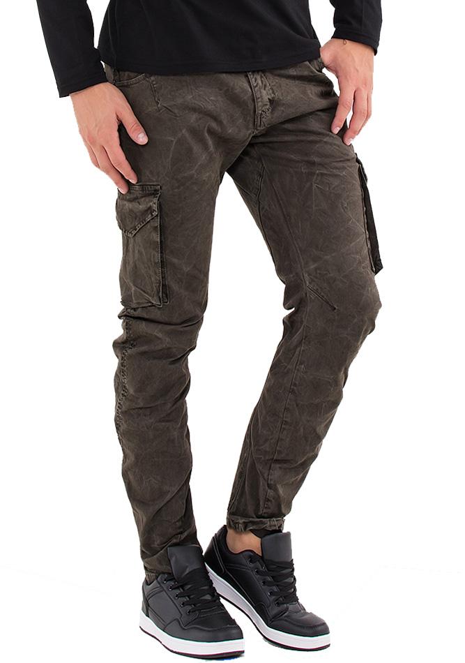 Ανδρικό Παντελόνι Enos Dark Brown αρχική ανδρικά ρούχα επιλογή ανά προϊόν παντελόνια παντελόνια chinos