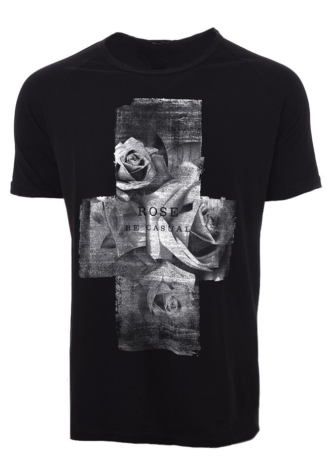 Ανδρικό T-shirt Cross Black αρχική ανδρικά ρούχα t shirts