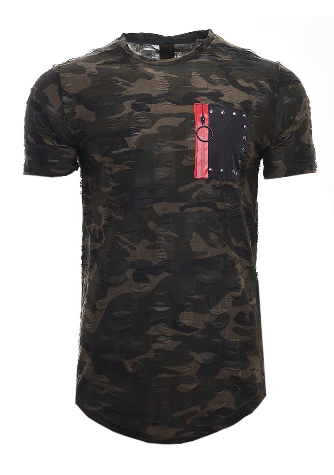 Ανδρικό T-shirt Consist Olive Green αρχική ανδρικά ρούχα