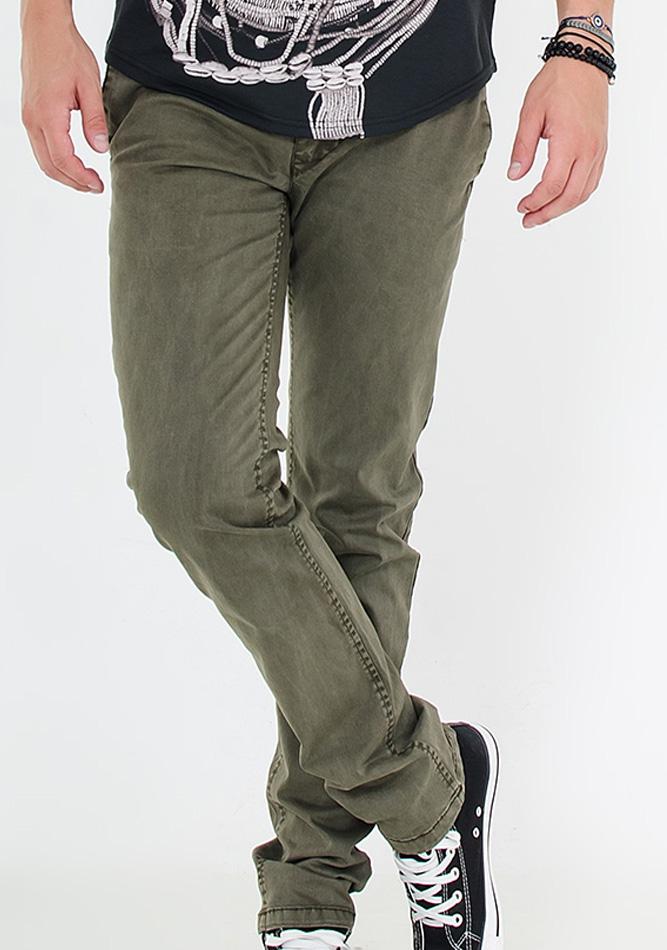 Ανδρικό Chino Παντελόνι Olive Green αρχική ανδρικά ρούχα επιλογή ανά προϊόν παντελόνια παντελόνια chinos