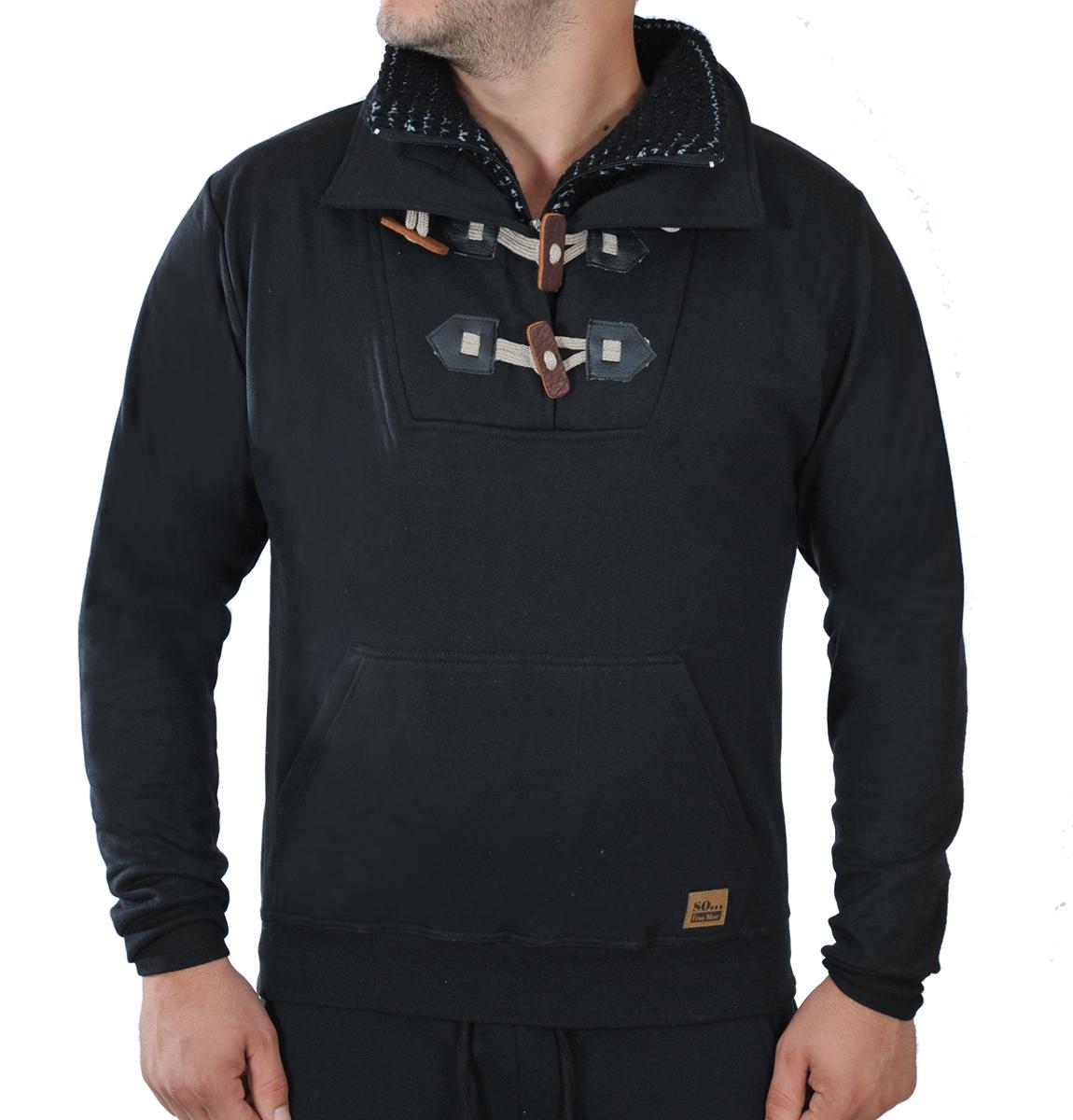Ανδρικό Φούτερ Με Πλεκτό Γιακά αρχική ανδρικά ρούχα φούτερ