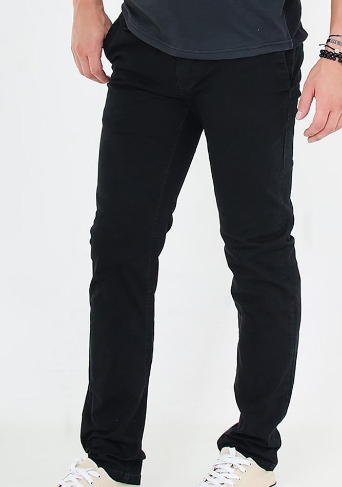 Ανδρικό Chino Παντελόνι Black αρχική ανδρικά ρούχα παντελόνια παντελόνια chinos