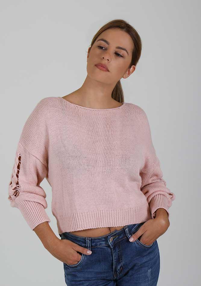 Γυναικεία Μπλούζα Back Pink αρχική γυναίκα