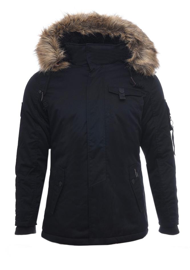 Ανδρικό Μπουφάν Parka Hill Black αρχική ανδρικά ρούχα επιλογή ανά προϊόν μπουφάν