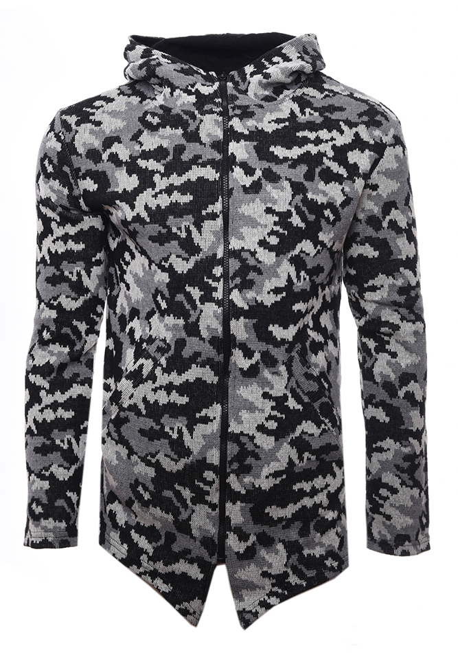Ανδρική Ζακέτα Fight Grey Army αρχική ανδρικά ρούχα επιλογή ανά προϊόν ζακέτες