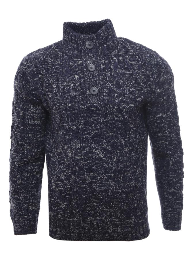 Ανδρική Πλεκτή Μπλούζα Crazy D.Blue αρχική ανδρικά ρούχα επιλογή ανά προϊόν πλεκτά