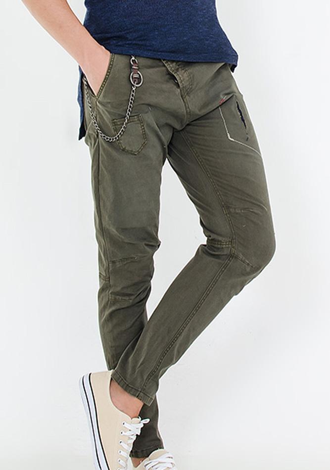 Aνδρικό Παντελόνι Chain Master Olive Green αρχική ανδρικά ρούχα επιλογή ανά προϊόν παντελόνια παντελόνια chinos