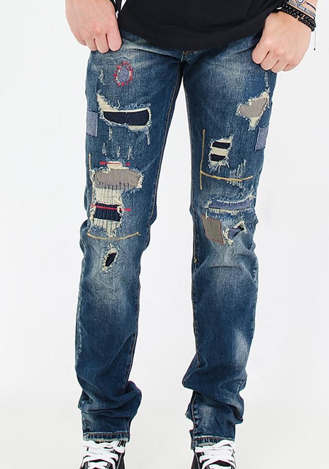 Ανδρικό Jean Y-Two Patch αρχική ανδρικά ρούχα επιλογή ανά προϊόν παντελόνια παντελόνια jeans