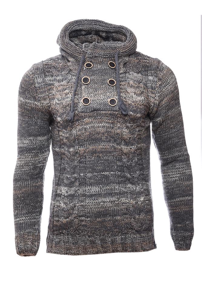 Ανδρική Πλεκτή Μπλούζα Fire Grey αρχική ανδρικά ρούχα επιλογή ανά προϊόν πλεκτά