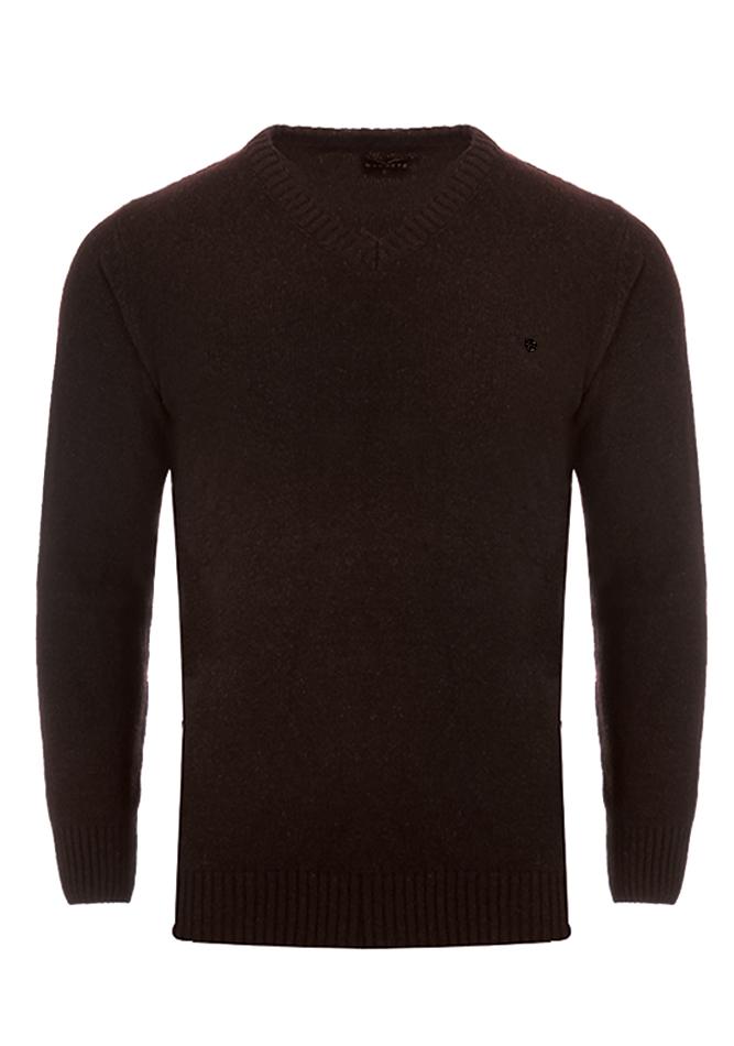 Ανδρική Πλεκτή Μπλούζα Cause Big Size Brown αρχική ανδρικά ρούχα