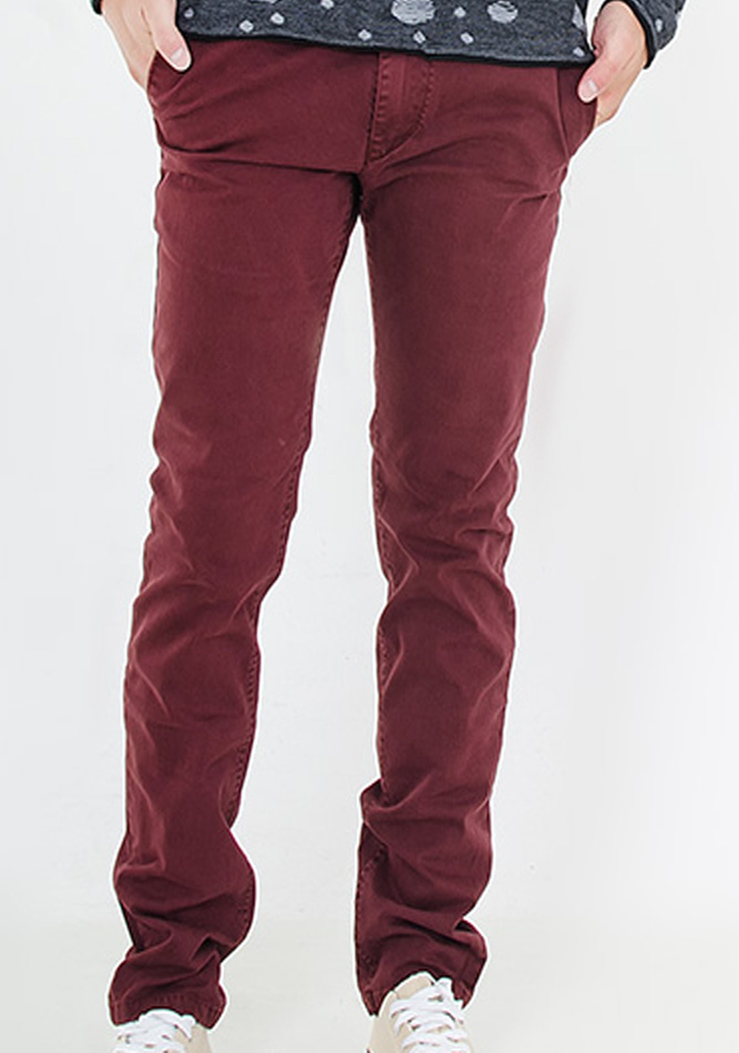 Ανδρικό Chino Παντελόνι Maroon αρχική ανδρικά ρούχα παντελόνια παντελόνια chinos