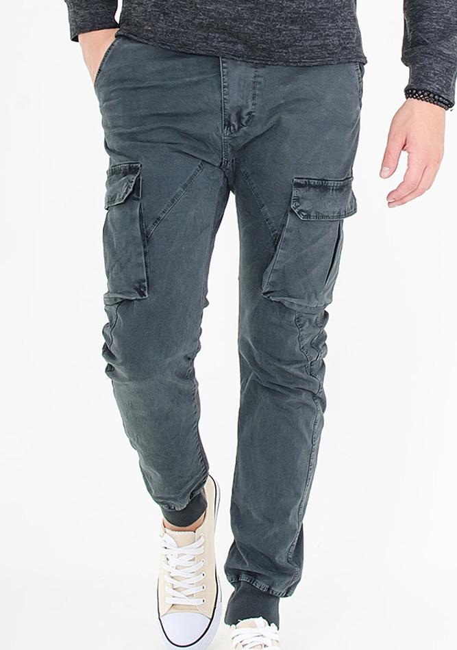 Ανδρικό Παντελόνι Cargo Black αρχική ανδρικά ρούχα παντελόνια chinos